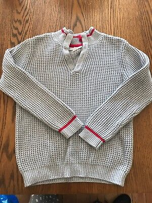 The Little White Company Boys Grey Jumper Age 5-6