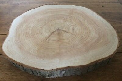 XL Log Slice Rustic Wooden Wedding Red Cedar Cake Board Cupcake Stand 38x37cm