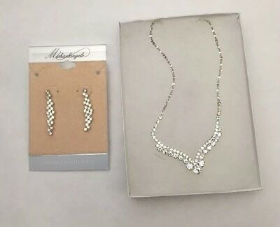 Prom Wedding Bridal Party Crystal Necklace Earring Jewelry Set