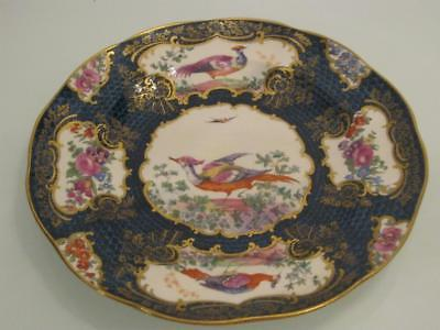 STUNNING ANTIQUE 19th CENTURY BOOTHS PORCELAIN CHELSEA BIRD CABINET PLATE