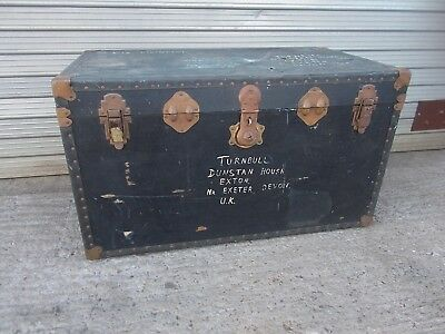 Vintage Trunk Storage Suitcase Coffee Table Chest Steamer