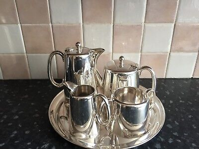 Silver plated tea set & tray
