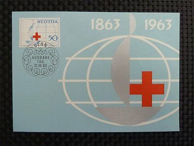 SCHWEIZ MK 1963 772 ROTES KREUZ RED CROSS MAXIMUMKARTE MAXIMUM CARD MC CM c2838