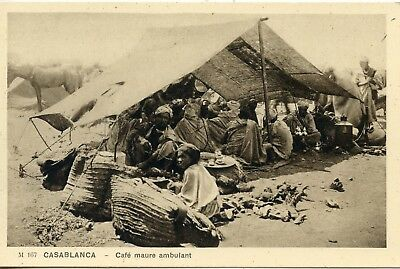 Carte Postale Maroc / Casablanca Cafe Maure Ambulant