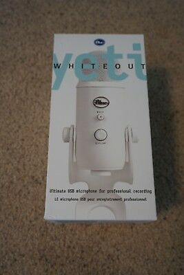 Blue Microphones NEW Yeti Professional USB Condenser Microphone Whiteout Edition