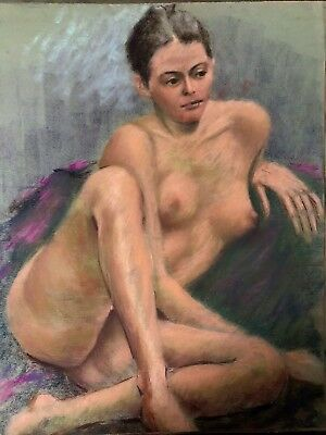 Mid 20th Century Pastel Figure Drawing - NUDE STUDY OF WOMAN ca;1960/AMERICAN-38