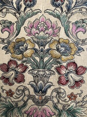 OLD WORLD WEAVERS Floral Jacquard Remnant New Floral