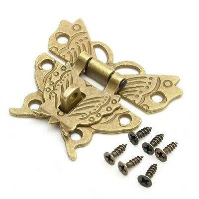 50*43mm Butterfly Design Antique Bronze Hasp Latch Jewelry Wooden Box Lock