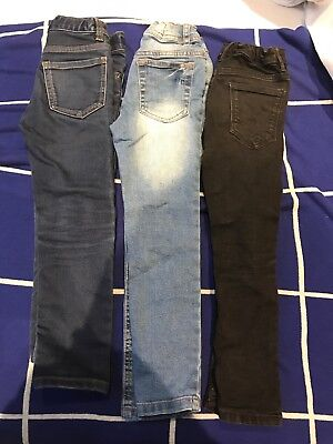 Boys Next Primark Skinny Jeans Bundle Age 6-7 Years Black Denim