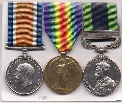 Ww1 War Medal And Victory Medal + Indian General  Service Medal