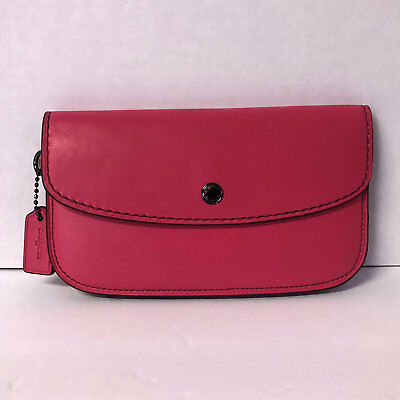 e06f605d5b Coach 1941 clutch wallet glovetanned leather dahlia red dark pink pouch  58818