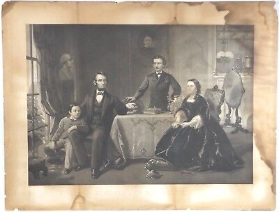Lincoln and His Family - Oversize Engraving