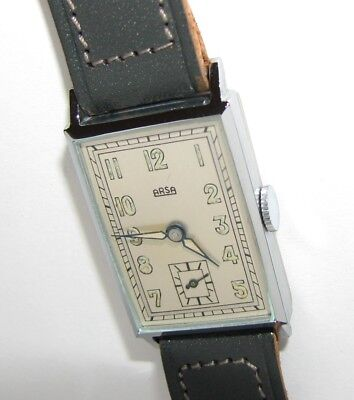 Not Used tank WATCH 1930s ARSA swiss RARE new old stock Art Deco watch