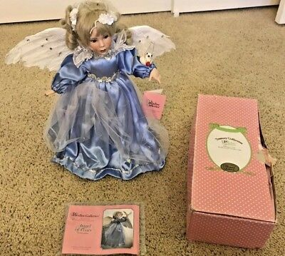 "Angel Of Peace Collector Porcelain Doll ""heaven On Wings""  Patricia Rose"