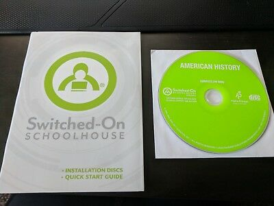 SOS, Alpha Omega,Switched on Schoolhouse, American History w/Install Disc