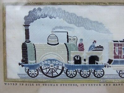 Stevengraph The Present Time Lord Howe Railwayana Steam Silk Vintage Embroidery