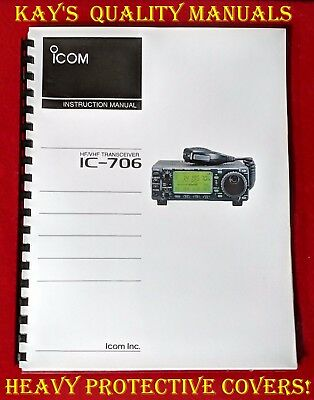 High Quality Icom IC-706 Instruction Manual w/32 LB PAPER **C-MY OTHER MANUALS**