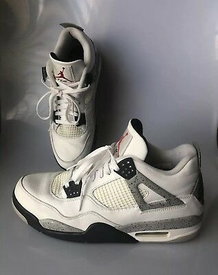 quality design 368bd 3c899 ... discount code for mens nike air jordan 4 iv retro cement white grey  840606 192 size