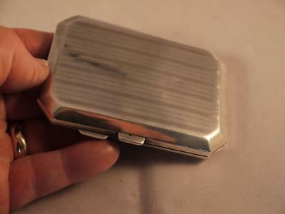 Superb Stylish Antique Sterling Silver Birm Hallmarked 1918 Cigarette Case