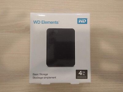 "WD Elements 6,4cm 2,5"" 4TB Western Digital Portable externe Festplatte USB 3.0"