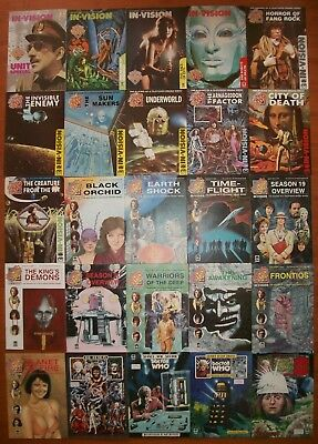 Doctor Who In-Vision Magazine 25 issues 1990s British UK publicatoin