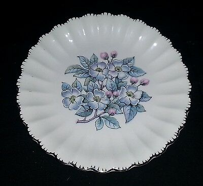 "American Limoges - Grey Blossom - Bread & Butter Plate - 6 1/4"" Diameter"