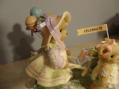 Cherished Teddies ANNELIESE AND ELISA On Our Way to a Grand Celebration   NEW