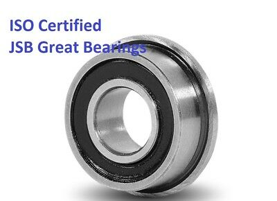 (Qty.2) Flange ball bearing FR6-2RS rubber seals FR6RS high quality FR6 RS
