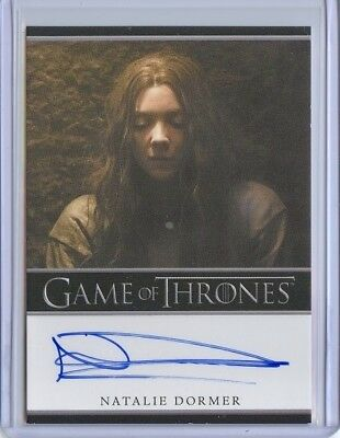 2017 Game Of Thrones Season 6 NATALIE DORMER Bordered Autograph