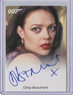 2017 James Bond Archives Final Edition DAISY BEAUMONT Full Bleed Autograph