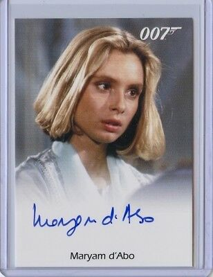 2016 James Bond Archives Spectre Edition MARYAM D'ABO Full Bleed Autograph