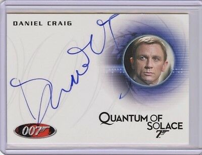 2017 James Bond Archives Final Edition A155 DANIEL CRAIG Autograph