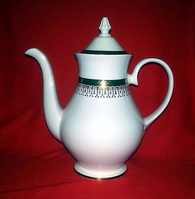 Royal Grafton Fine China MAJESTIC GREEN Teapot / Coffee Pot - Made in England