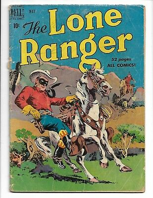 "Dell The Lone Ranger # 23 Classic Golden Age Comic Book Scarce Vintage "" 1950 """