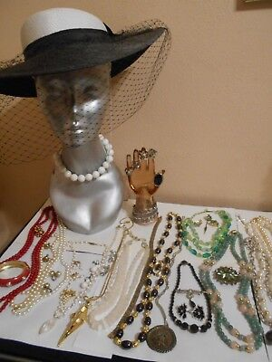 High End Mixed Lot Of Antique  Vintage Costume +Sterling+ Gold?jewelry