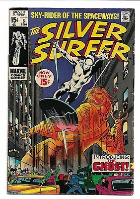 """The Silver Surfer # 8 Introducing The Ghost! Sky-Rider Of The Spaceways!  """"1969"""""""