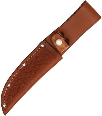 "Brown Leather Sheath For Straight Fixed Blade Knife Up To 5"" Blade FAST SHIPPING"
