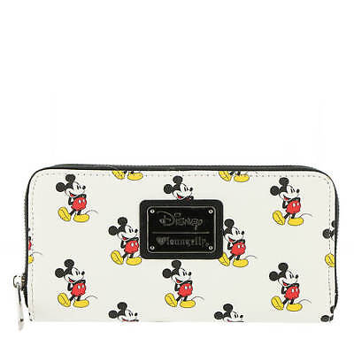 Disney Loungefly Mickey Mouse print zip around wallet  NWT new