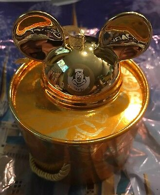 Disney Parks Mickey Mouse Club GOLD Ear Hat Ornament Limited Edition 2000 New