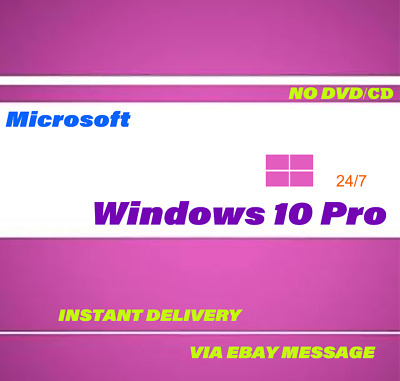 Activation Windows 10 Pro edition 64/32 bit Genuine key Lifetime