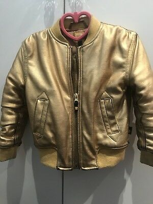 Rock Your Kid Padded Gold Leather Look Jacket