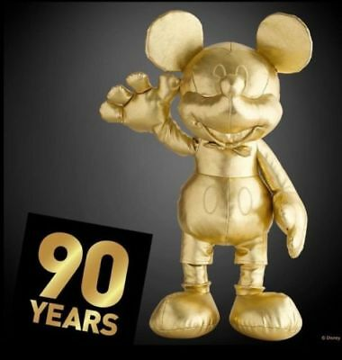 In Hand Mickey Mouse 90Th Anniversary Gold Collection Small Mini Plush Disney
