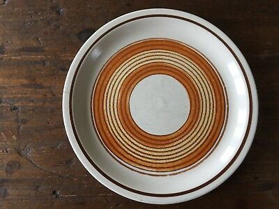 Vintage Retro Fuji Stone Pottery  Stoneware Side Plate Circles Japan