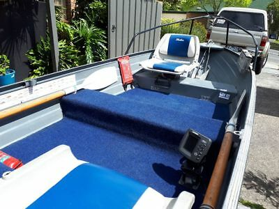 Savage pintail 11ft (3.3m) tinny with 8hp Johnson outboard and Mackay trailer