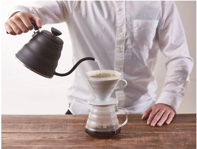 V60 Buono Pour Over Coffee Drip - Black Hario 1.2L Kettle Stainless from Japan