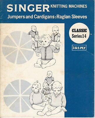 SINGER Knitting Machine Pattern Book CLASSIC SERIES 14 BABIES Jumpers Cardigans