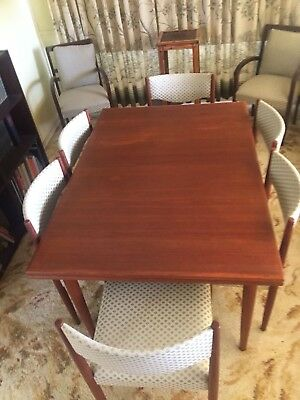 Parker Dining Suite table + 8 chairs, Retro Parker Eames Chiswell Mid-Century