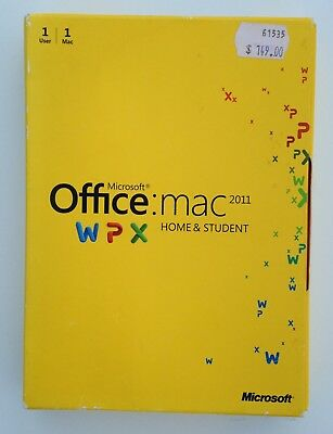 Microsoft Office for Mac Home & Student 2011 Edition Retail DVD