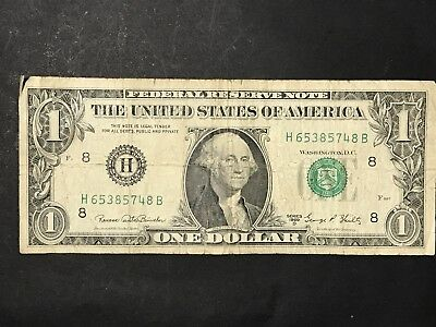 USA Paper $1 Series 1969 D United States America One Dollar Bank Note Green Seal