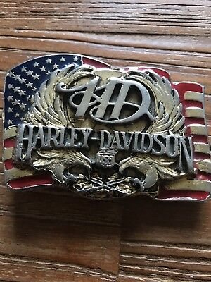 BOUCLE CEINTURE HARLEY DAVIDSON 90  Buckle vintage Raintree USA The ... 8e58cb17624